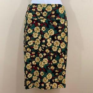 LuLaRoe Cassie Rose Floral Skirt  NEW  Size S